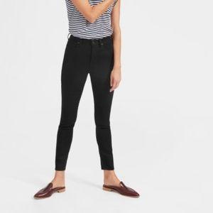Everlane   High rise skinny black jeans